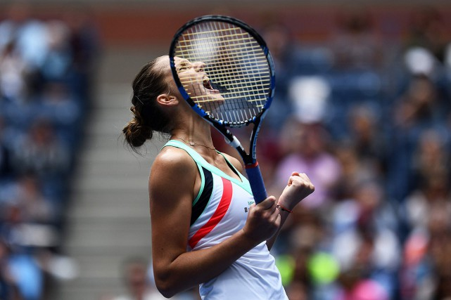Karolina Pliskova... (PHOTO JEWEL SAMAD, AGENCE FRANCE-PRESSE)