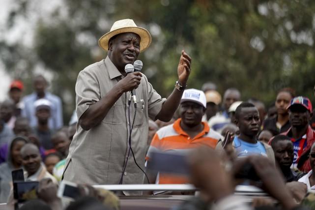 Le chef de l'opposition kényane, Raila Odinga, s'est... (AP, Ben Curtis)