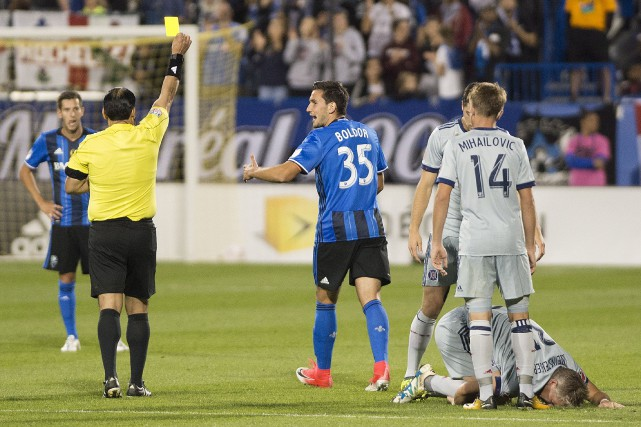 Le baptême du défenseur Deian Boldor en MLS... (La Presse canadienne, Graham Hugues)