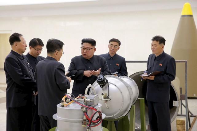 De nouvelles photos publiées par l'agence nord-coréenne KCNA... (KCNA, via AFP)