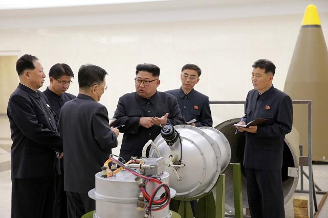 Dans cette photo publiée le 3septembre par l'agence... (PHOTO AFP/AGENCE DE PRESSE CENTRALE NORD-CORÉENNE)