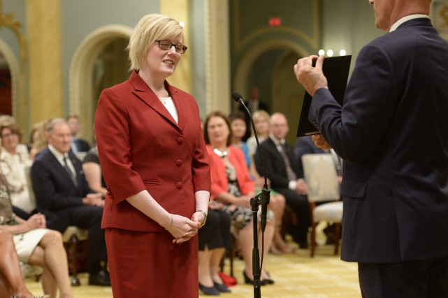 Même si Carla Qualtrough vient à peine de... (Photo Adrian Wyld, La Presse canadienne)