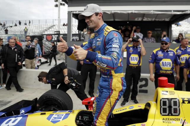 Deuxième victoire en carrière pour Alexander Rossi dimanche.... (Photo Matt Slocum, AP)