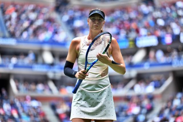 Maria Sharapova a été éliminée parAnastasija Sevastova.... (Photo Jewel SAMAD, AFP)