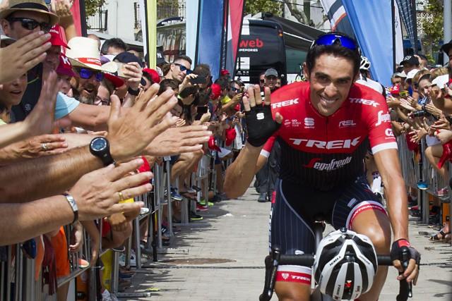 Alberto Contador croit encore qu'il peut devancer leRusse... (Photo JAIME REINA, AFP)