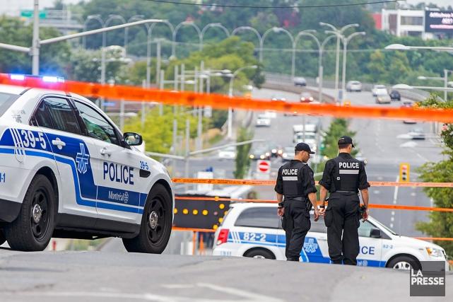 Le suspect atteint par balle aurait volé un... (La Presse, Olivier Jean)