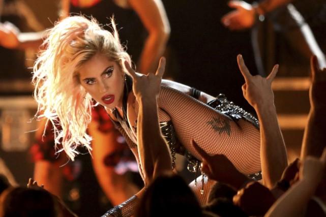 Lady Gaga lors des Grammy Awards, en février... (ARCHIVES AP)