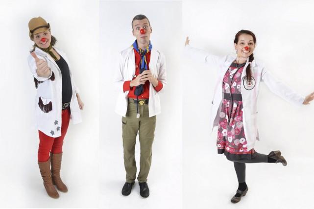Dr Go!, Dr Monde Entier et Dr Lily-Fleur... (Tirée de Facebook)
