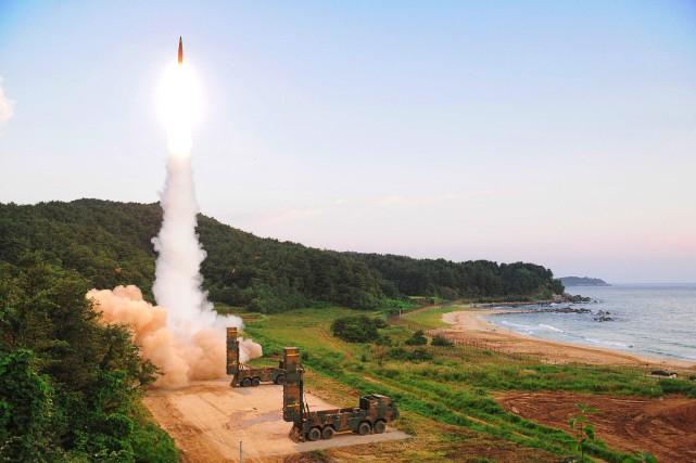 La Corée du Sud lancé lundi matin des... (PHOTO AFP)