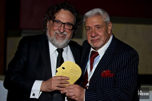 C'est en compagnie de l'acteur Julio Jung, à... (Photo André Pichette, La Presse)
