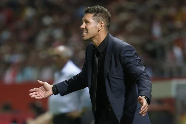 L'entraîneur de l'Atletico Madrid, Diego Simeone.... (Photo Pau Barrena, AFP)
