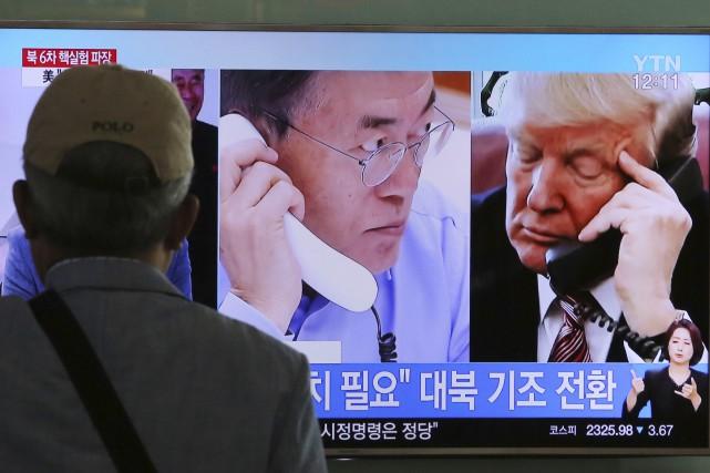 Le président américain Donald Trump a évoqué le... (AP)