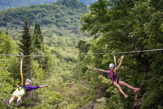 À Ziptrek Écotours de Mont-Tremblant, les sensations fortes... (photo fournie par Ziptrek Tremblant)