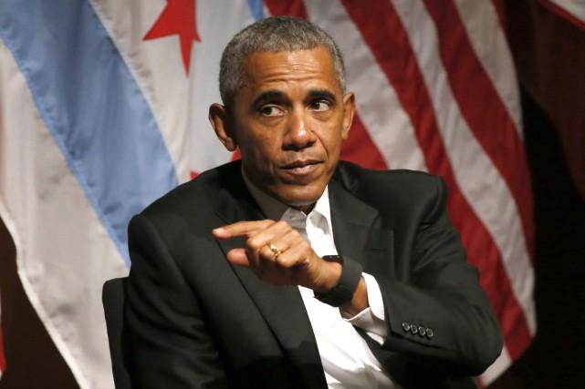 L'ancien président américain Barack Obama... (PHOTO Charles Rex Arbogast, AP)
