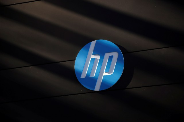 FILE PHOTO - A Hewlett-Packard logo is seen... (REUTERS)
