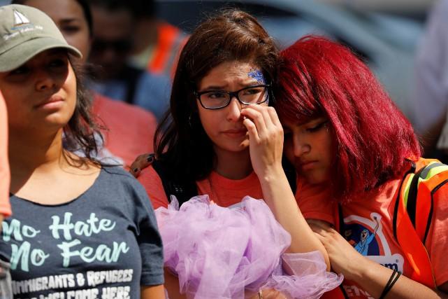 Des Dreamers n'ont pas caché leurs émotions lors... (PHOTO REUTERS)