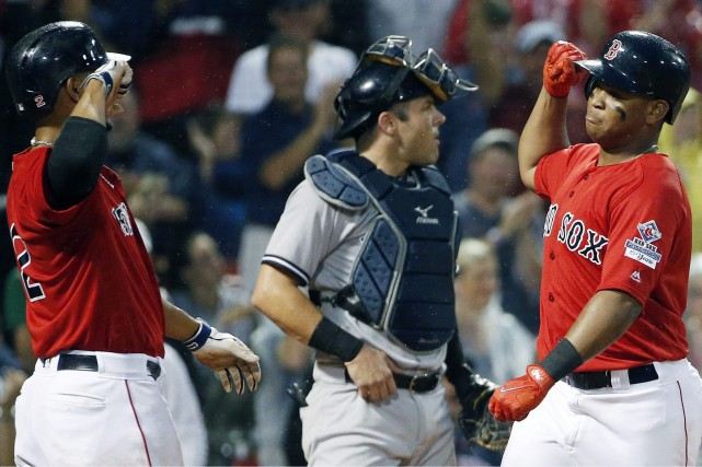 Match opposant les Red Sox aux Yankees le... (PHOTO AP)