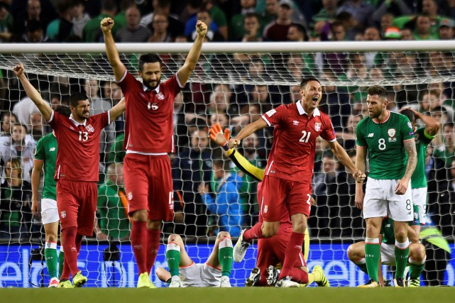 La Serbie a battu l'Irlande 1-0, mardi, à... (PHOTO REUTERS)
