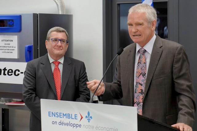 Le président de Gentec Électro-Optique, Michel Giroux... (Le Soleil, Frédéric Matte)