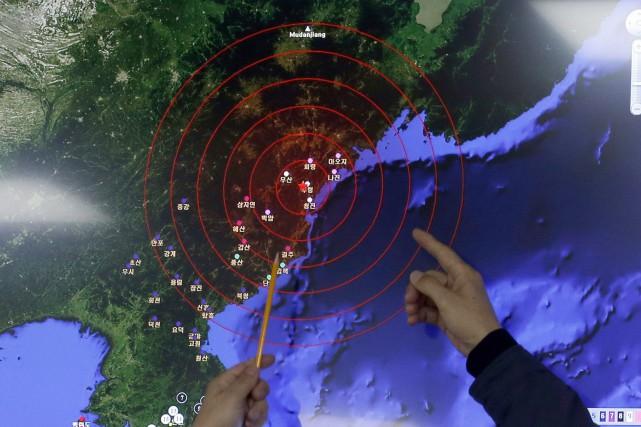 Le sixième test nucléaire nord-coréen a provoqué un... (PHOTO AP)