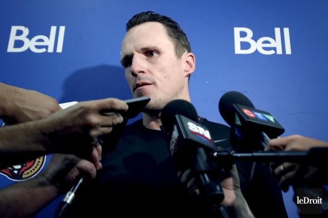 Dion Phaneuf se plaît à Ottawa et comme... (Patrick Woodbury, Le Droit)