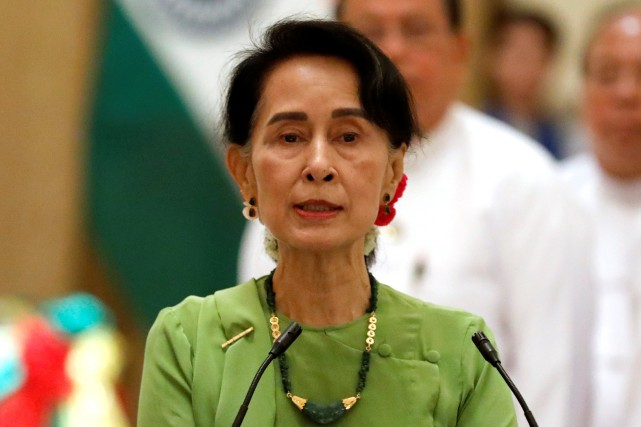 La leader birmane Aung San Suu Kyi fait... (Photo archives Reuters)