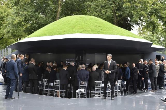 Installé dans l'enceinte du stade olympique de Munich,... (AFP)