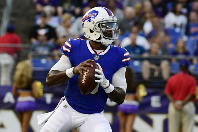 Le quart des Bills de Buffalo Tyrod Taylor... (Photo Tommy Gilligan, USA Today Sports)