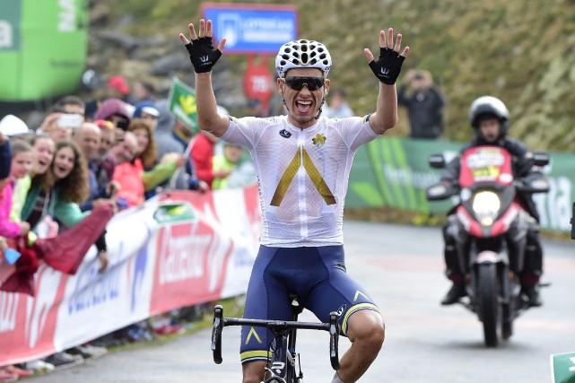 L'Autrichien Stefan Denifl a remporté la 17e étape... (Photo Jose Jordan, AFP)