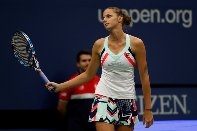 La numéro 1 mondiale Karolina Pliskova s'est inclinée face... (Photo Mike Segar, Reuters)