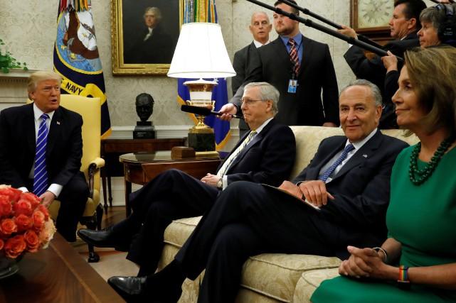 Donald Trump a accueilli mercredi dans le Bureau... (PHOTO REUTERS)