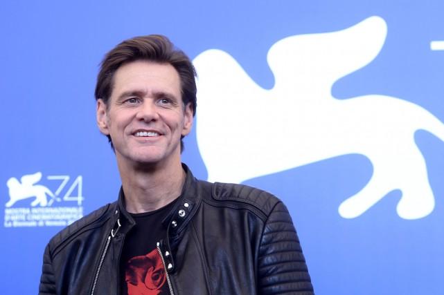 Jim Carrey a présenté Jim et Andy, un... (PHOTO AFP)