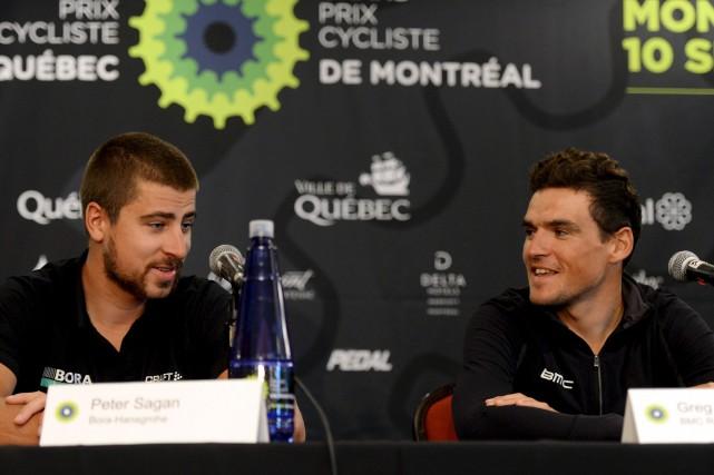 Les deux favoris, Peter Sagan et Greg Van... (Le Soleil, Erick Labbé)