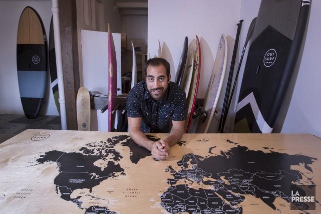 Grâce au surf, Benjamin Rochette vit sa passion... (La Presse, Ivanoh Demers)