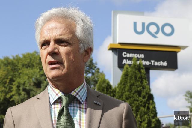 Le recteur de l'Université du Québec en Outaouais,... (Patrick Woodbury, Archives Le Droit)