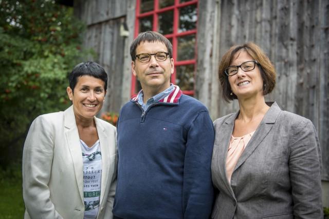 Nicole Bergeron, présidente du comité consultatif agricole, Martin... (Spectre Média, André Vuillemin)