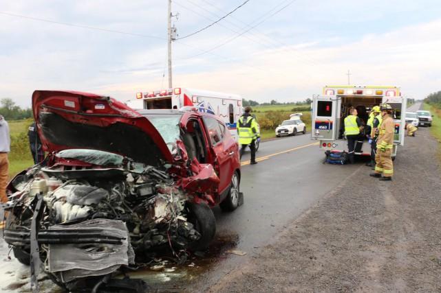 L'impact mortel s'est produit vers 7h, jeudi matin,... (Courtoisie, Paramédics d'Ottawa)