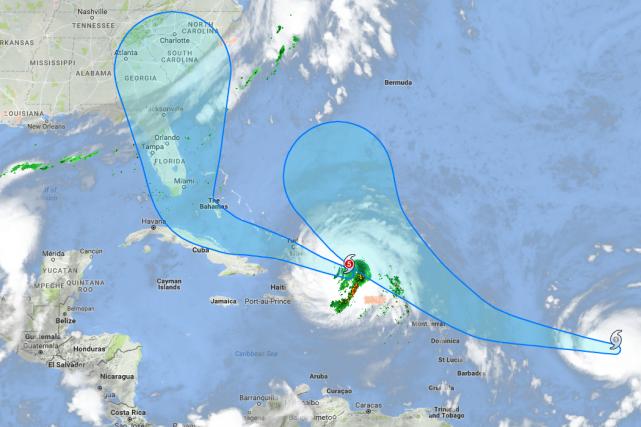 L'ouragan Irma a semé la destruction sur les Caraïbes et s'apprête à... (Photo Google)