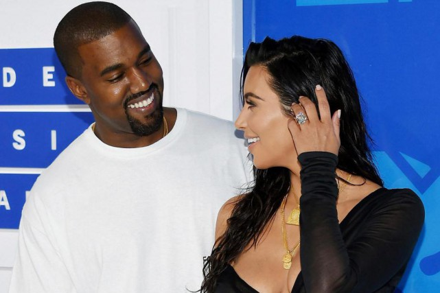 Kanye West et Kim Kardashian... (Photo Evan Agostini, Archives Associated Press)