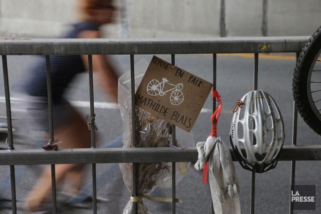 Mathilde Blais a été happée à mort par... (Photo Patrick Sanfaçon, archives La Presse)