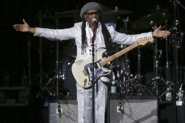 Le musicien et producteur new-yorkais Nile Rodgers lors... (PHOTO ARCHIVES AP)