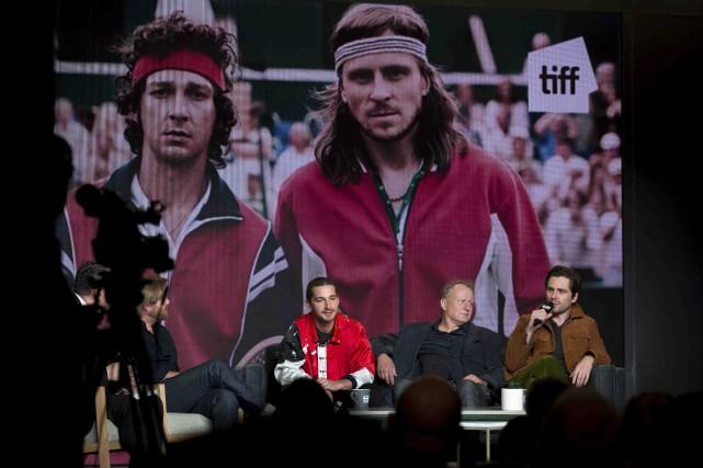 Le réalisateur Janus Metz, les acteurs Shia LaBeouf... (La Presse canadienne, Chris Donovan)