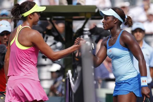 Madison Keys et Sloane Stephens en 2015... (Photo Geoff Burke, archives USA TODAY Sports)