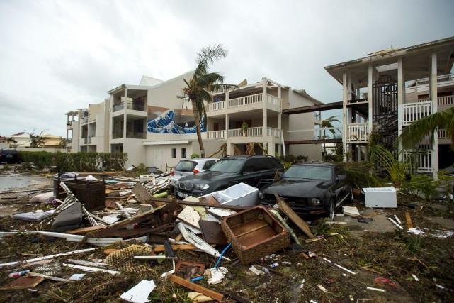 L'ouraganIrmase dirige vers le sud de la Floride... (Photo Lionel Chamoiseau, AFP)