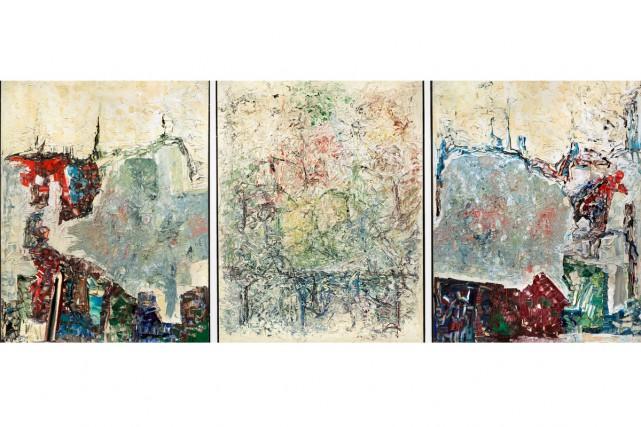 Large Triptych, 1964, Jean Paul Riopelle, huile sur... (Photo Cathy Carver, fournie par le MNBAQ)