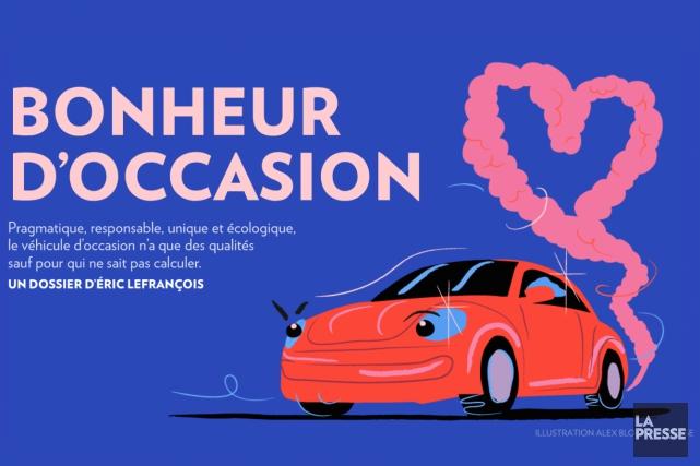 Au Québec, près d'un demi-million de véhicules d'occasion... (Graphisme : Alex Blouin, La Presse)