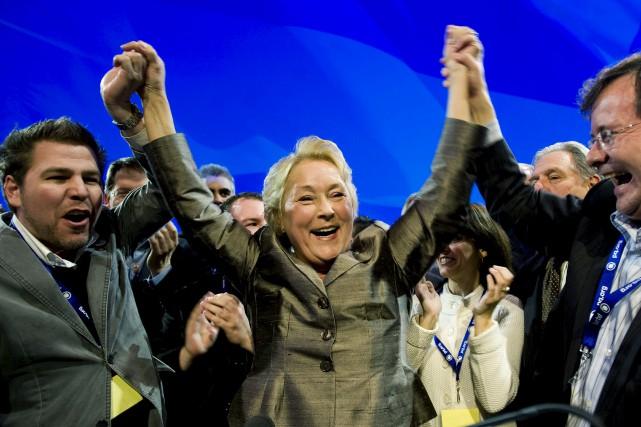 Au dernier congrès péquiste, en avril 2011, Pauline... (Archives La Presse canadienne, Graham Hughes)