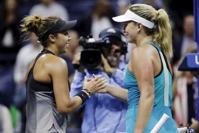 Les Américaines Madison Keys et CoCo Vandeweghe se... (AP)