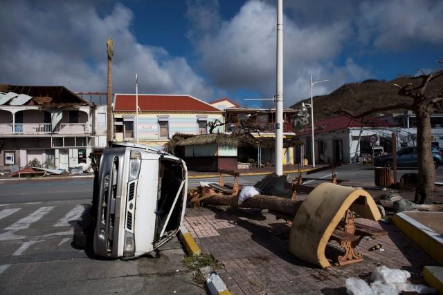 La ville de Marigot, à Saint-Martin, a été... (PHOTO Martin BUREAU, archives AFP)
