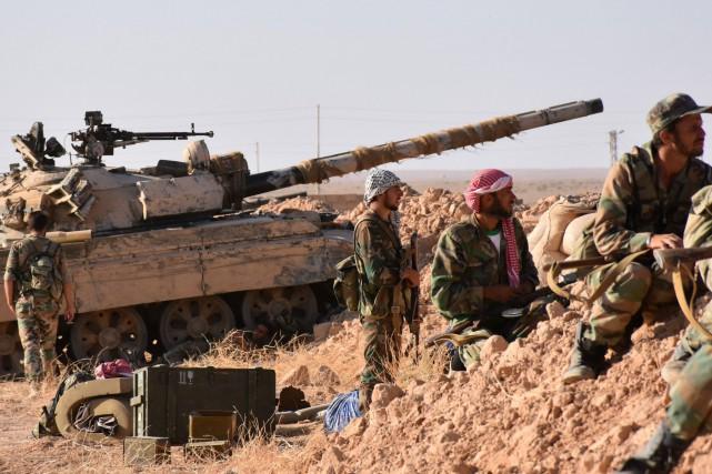«Des unités de l'armée syrienne, en coopération avec... (PHOTO AFP)